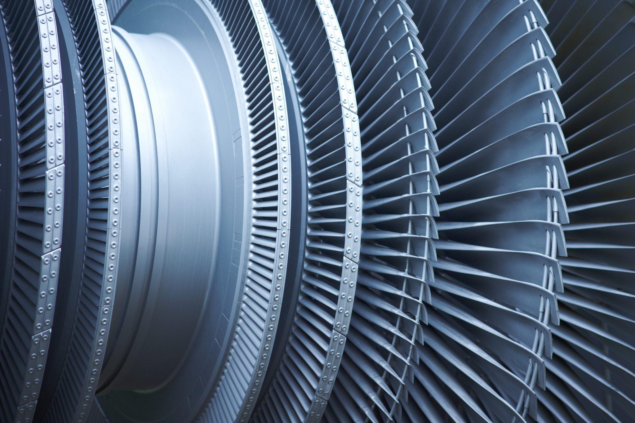 Close-up of Turbine Fan Blades